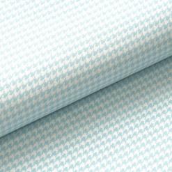 Leichter Baumwollstoff - Babyblau mit Mini-Hahnentritt - von Gütermann