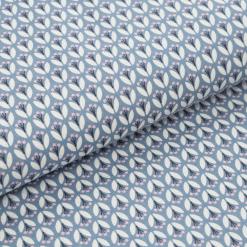 Leichter Baumwollstoff - Graublau mit Blümchen - von Gütermann