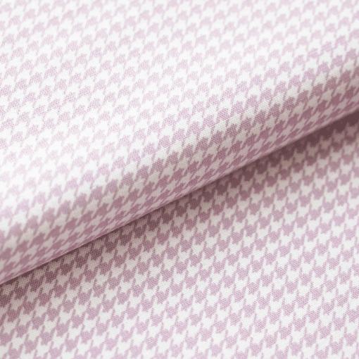 Leichter Baumwollstoff - Pastellviolett mit Mini-Hahnentritt - von Gütermann