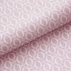 Leichter Baumwollstoff - Pastellviolett mit weißen Ovalen - von Gütermann