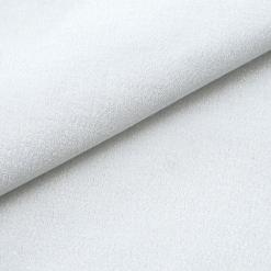 Baumwollstoff mit Lurex - dünn - Weiß - silbrig schimmernd