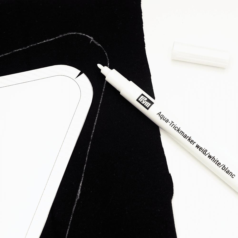 markierstift f r dunkle textilien wasserl slich wei diy stoffe. Black Bedroom Furniture Sets. Home Design Ideas