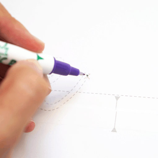 Markierstift für helle Textilien selbstlöschend 2 Seiten Violett