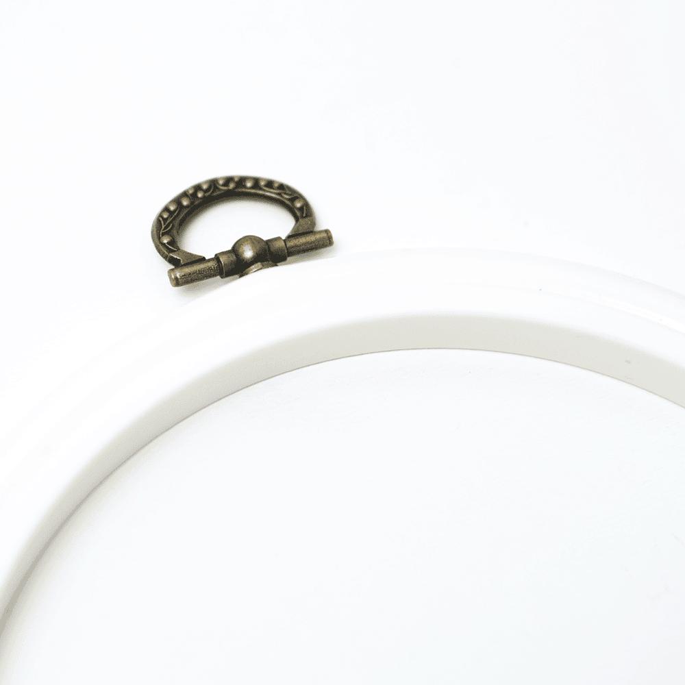 Stickrahmen - weiß - 14,5 cm | DIY Stoffe