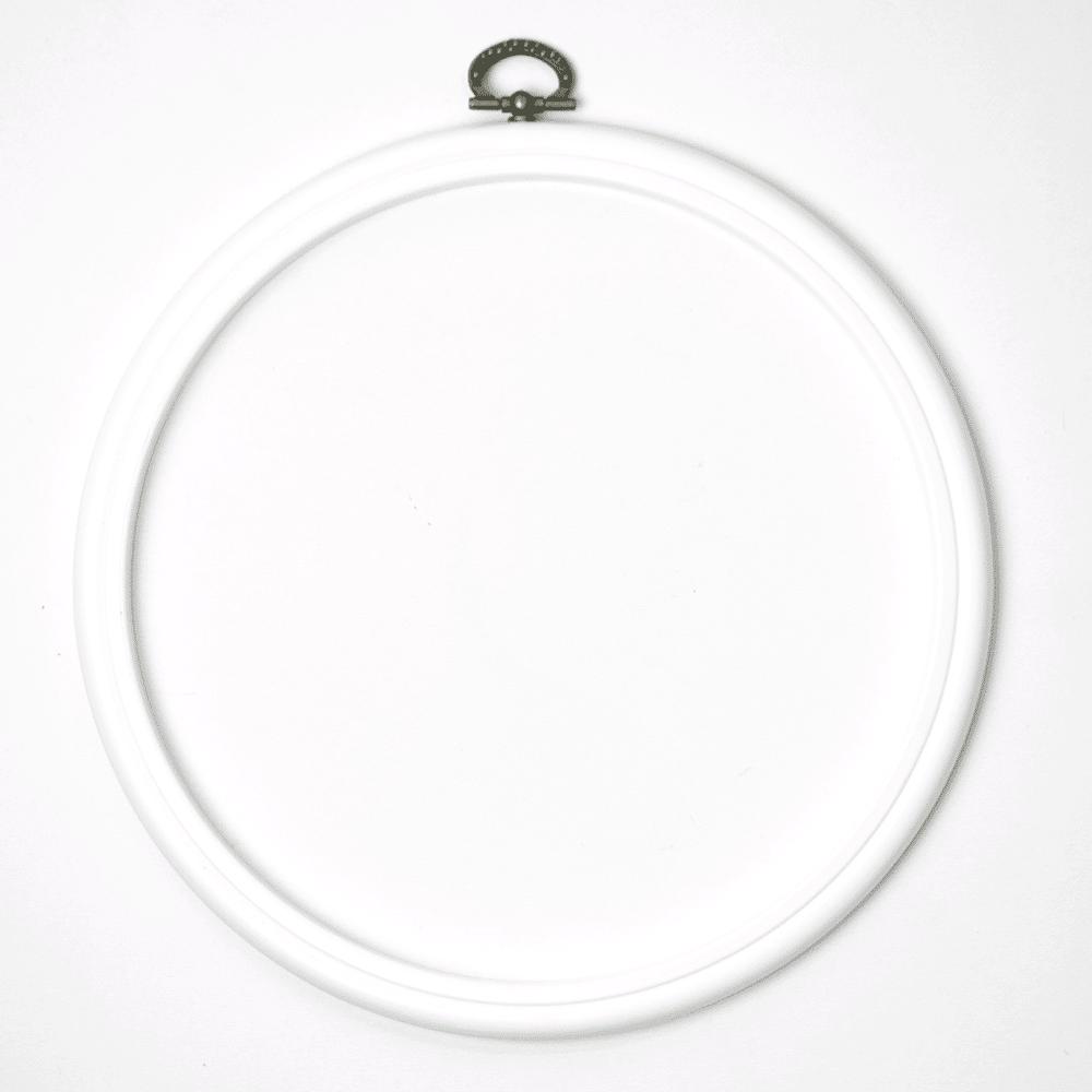 Stickrahmen - weiß - 19 cm | DIY Stoffe