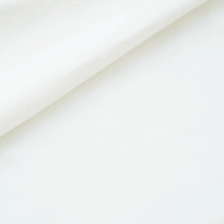 French Terry - dünner Sweatshirtstoff - Cremeweiß