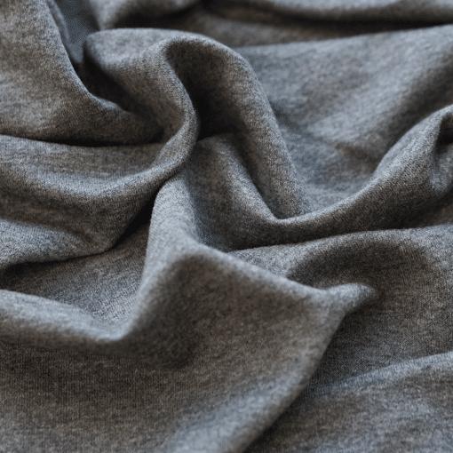 French Terry - dünner Sweatshirtstoff - Dunkelgrau meliert