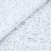 French Terry - dünner Sweatshirtstoff - Weiß mit schwarzen Sprenkeln