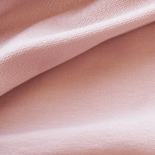 French Terry - dünner Sweatshirtstoff - zartes Altrosa