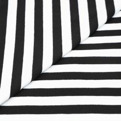 Single Jersey - Schwarz/Weiß gestreift