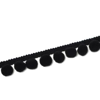 Pomponborte - Medium - Schwarz