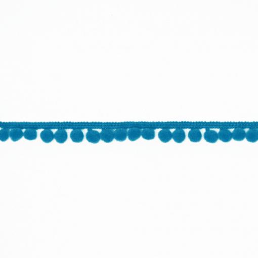 Pomponborte - Medium - Tiefes Türkis