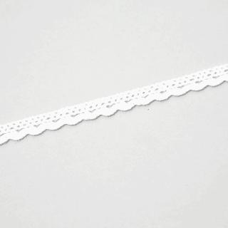 Baumwollspitze mit kleinen Rundungen - 9 mm - Weiß