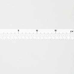 Baumwollspitze mit leichten Zacken - 14 mm - Weiß