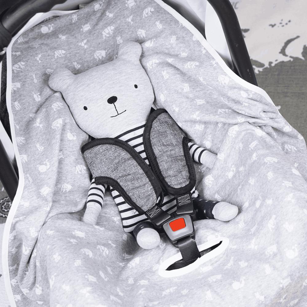 Kuscheldecke für die Babyschale - Anleitung & Schnittmuster | DIY Stoffe