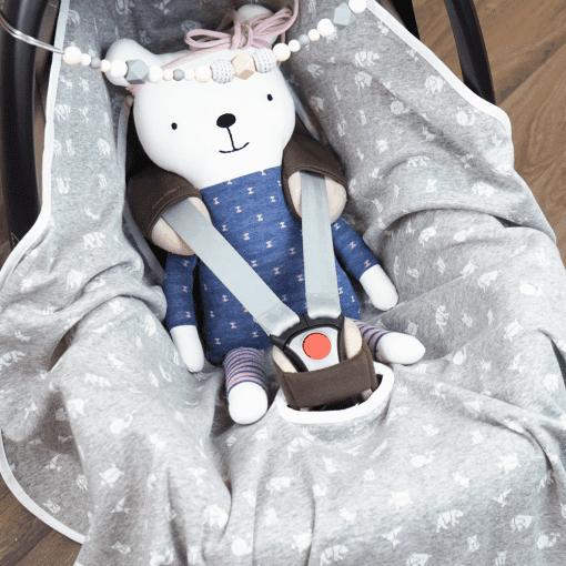 Kuscheldecke für die Babyschale
