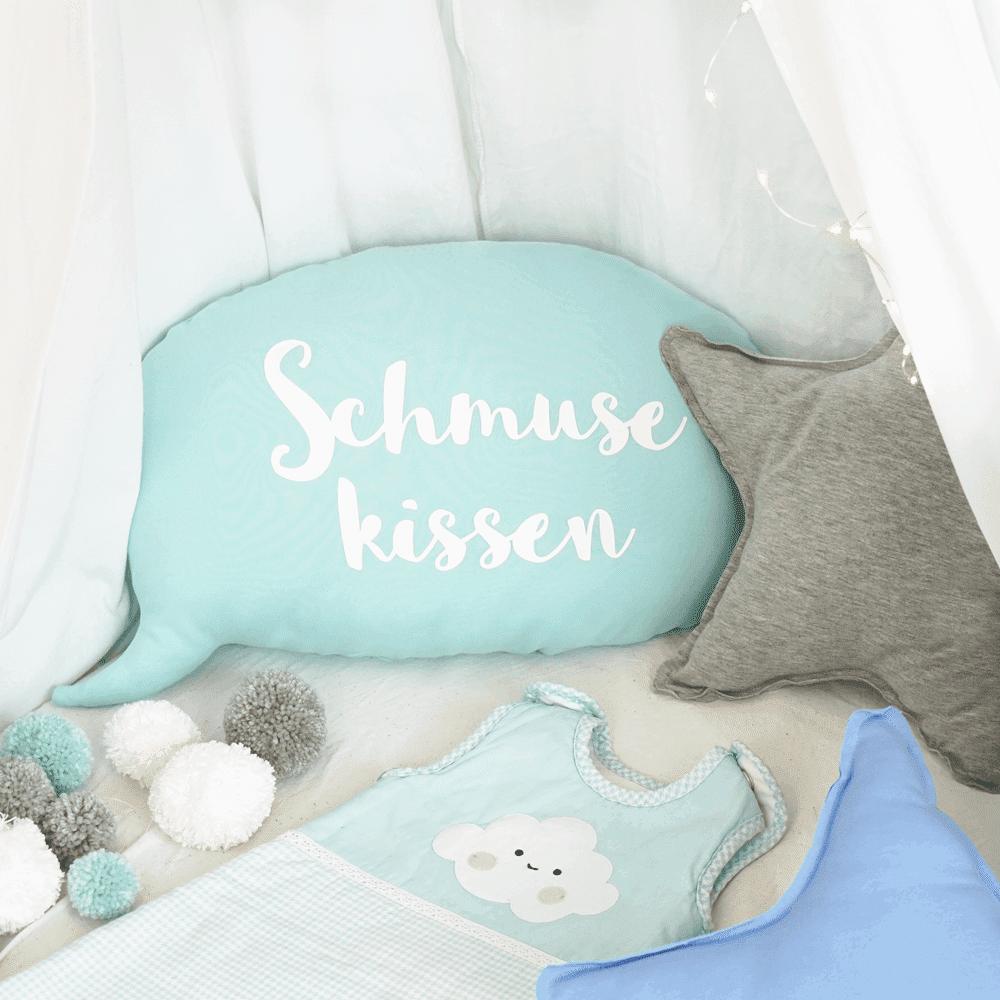 Sprechblase Kissen - Anleitung & Schnittmuster | DIY Stoffe