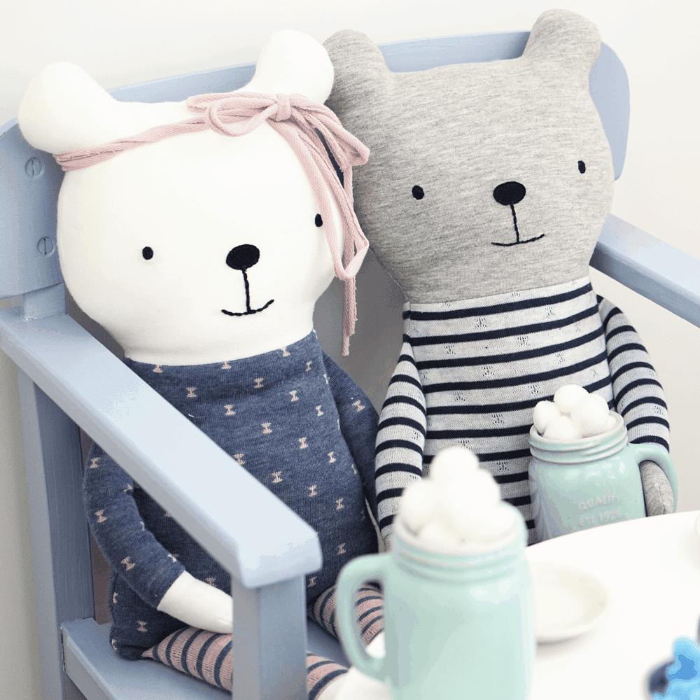Teddy Lio & Lia - Anleitung & Schnittmuster | DIY Stoffe