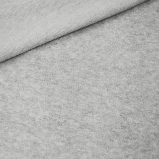 Baumwollfleece - Hellgrau Meliert