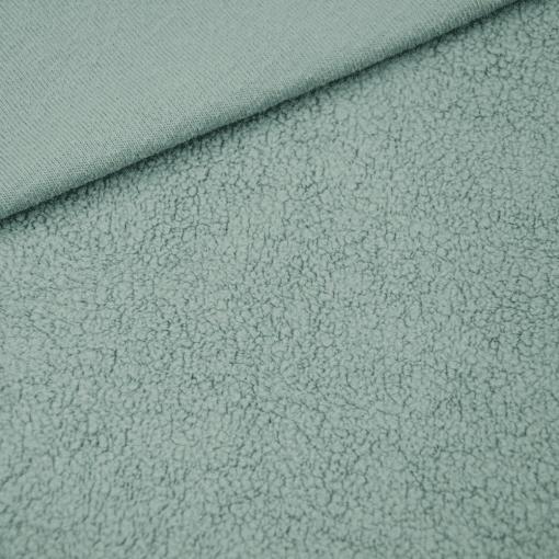 Baumwollfleece - Meergrün