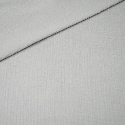 Musselin - Baumwollstoff - Hellgrau
