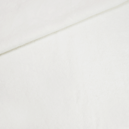 Baumwollfleece - Cremeweiß