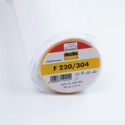 Bügelvlies - F220 fixierbar 90 cm weiß