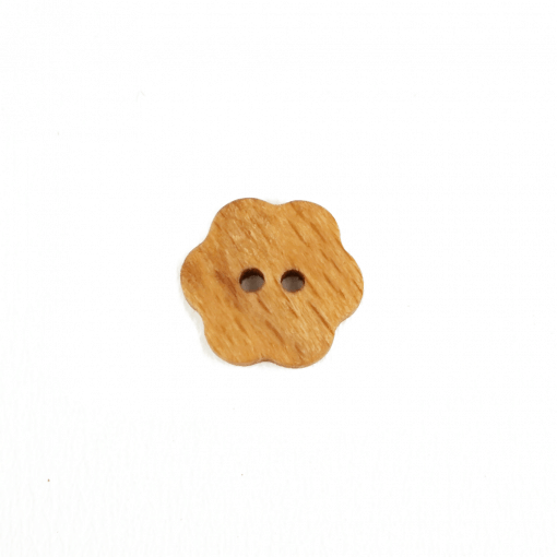 Holzknopf Blume - 15 mm - 2 Loch