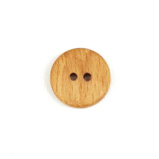 Holzknopf rund - 18 mm - 2 Loch