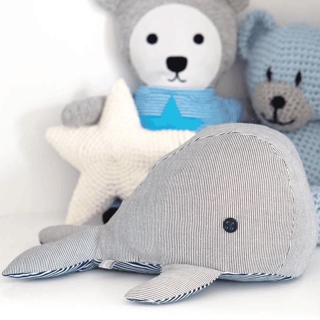 Kleiner Wal zum Kuscheln - Gewerbelizenz | DIY Stoffe