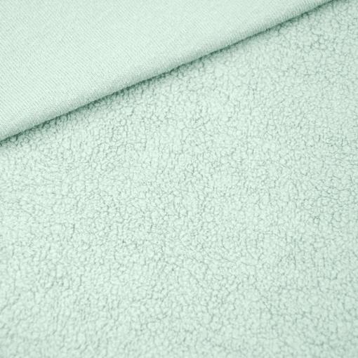 Baumwollfleece - Pastell-Mintgrün