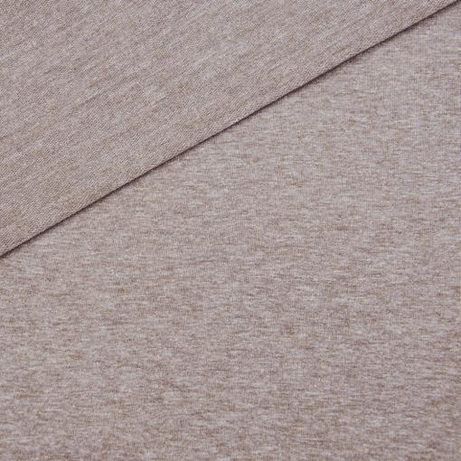 French Terry - dünner Sweatshirtstoff - Rehbraun meliert