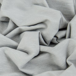 French Terry strukturiert - dünner Sweatshirtstoff - Warmes Hellgrau