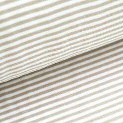 Bündchen - Beige/ weiß gestreift