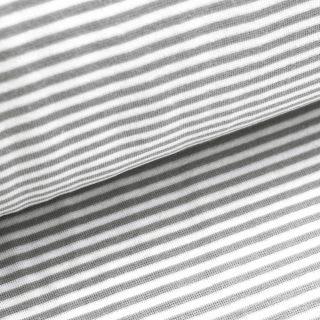 Bündchen - Mittelgrau/ weiß gestreift
