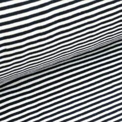 Bündchen - Marineblau/ weiß gestreift