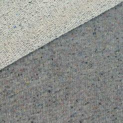 French Terry – grobe Schlaufenoptik – Dunkelgrau meliert mit farbigen Sprenkeln