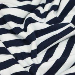 Single Jersey - Dunkelblau/Weiß gestreift