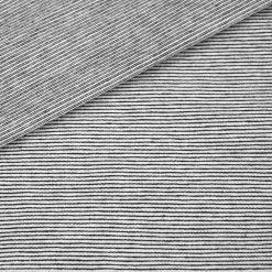 Single Jersey - Schwarz/ Weiß Mini-Streifen