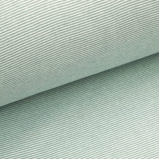 Bündchen - Altmingrün 1 mm gestreift