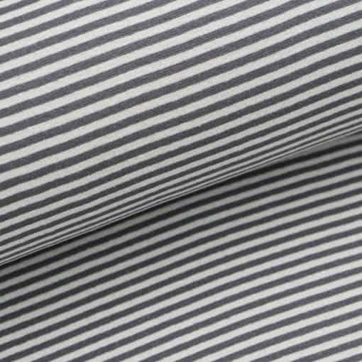Bündchen - Hellgrau / Dunkelgrau 4 mm gestreift