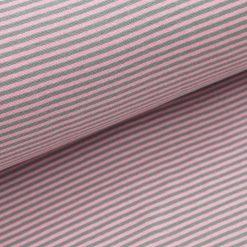 Bündchen - Rosa / Mittelgrau 3 mm gestreift