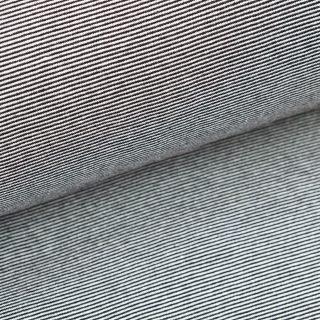 Bündchen - Schwarz / Weiß 1 mm gestreift