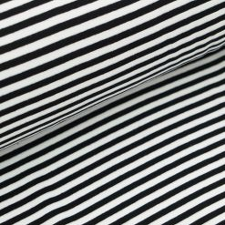 Bündchen - Schwarz / Weiß 5 mm gestreift