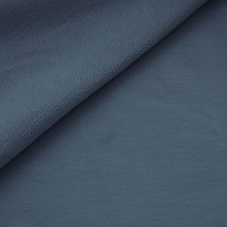 French Terry - dünner Sweatshirtstoff - Smoky Jeansblau