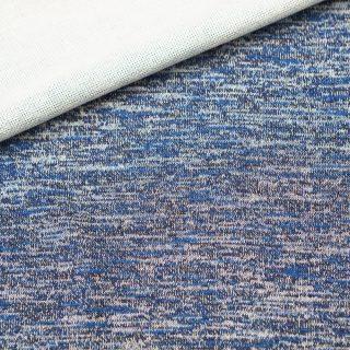 Leichter Strickstoff - blau meliert