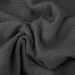 Musselin - Baumwollstoff - Dunkelgrau