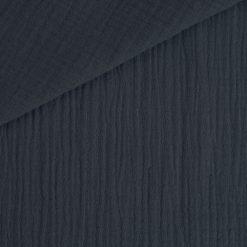 Musselin - Baumwollstoff - dunkles Jeansblau