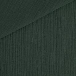 Musselin - Baumwollstoff - Smoky Tannengrün