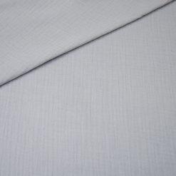 Musselin - Baumwollstoff - helles Silbergrau